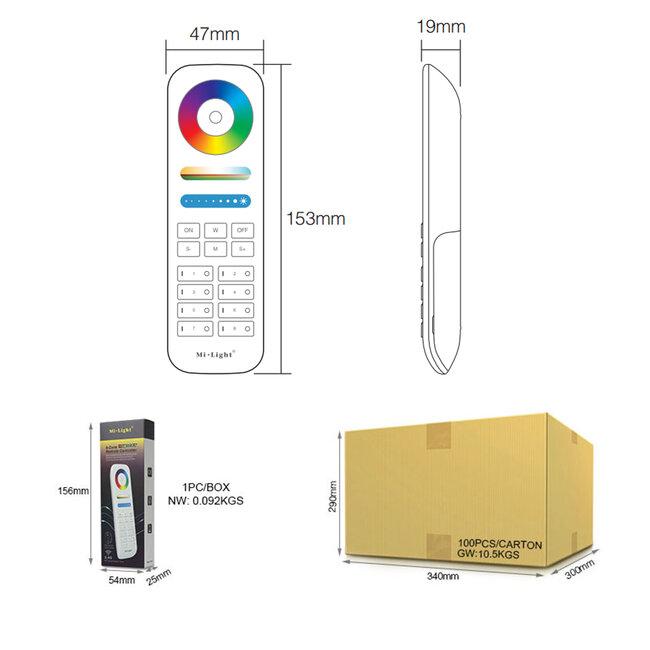 GloboStar® 73426 Ασύρματο Χειριστήριο Αφής έως 8 Group Wireless RF 2.4Ghz LED RGBW+WW Smart Touch Panel 8-Zone Mi-Light FUT089 433MHz RF 2.4G - 19