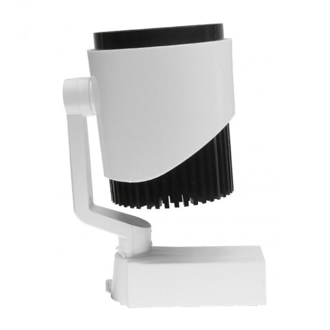 Μονοφασικό Bridgelux COB LED Φωτιστικό Σποτ Ράγας 30W 230V 3300lm 24° Φυσικό Λευκό 4500k GloboStar 93016 - 5
