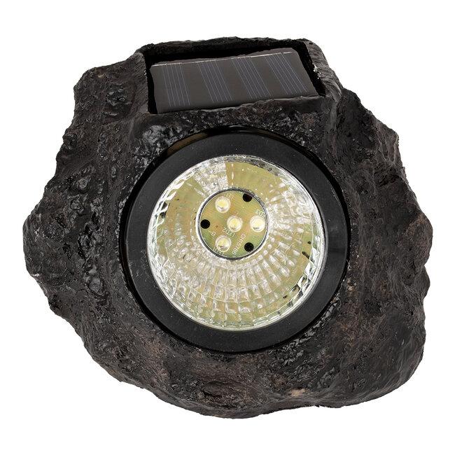 71484 Αυτόνομο Ηλιακό Φωτιστικό LED SMD 1W 100lm με Ενσωματωμένη Μπαταρία 600mAh - Φωτοβολταϊκό Πάνελ με Αισθητήρα Ημέρας-Νύχτας Αδιάβροχο IP65 Διακοσμητική Πέτρα - Βράχος Κήπου Ψυχρό Λευκό 6000K - 7