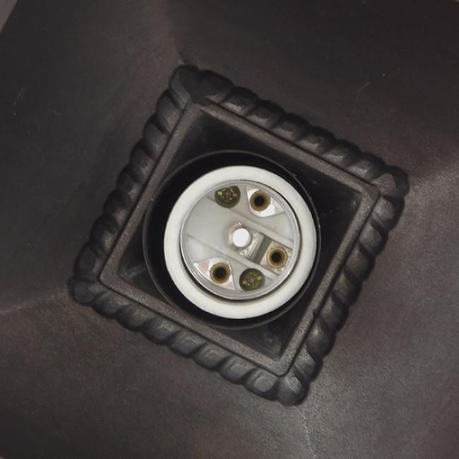 Vintage Industrial Κρεμαστό Φωτιστικό Οροφής Μονόφωτο Μπρονζέ Μεταλλικό Πλέγμα GloboStar LINCOLN 01399 - 9