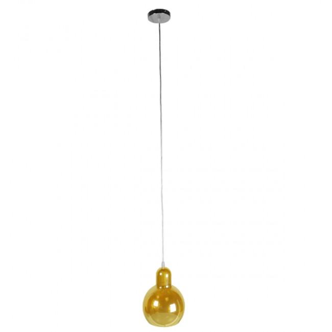 Μοντέρνο Κρεμαστό Φωτιστικό Οροφής Μονόφωτο Γυάλινο Μελί Διάφανο Φ18 GloboStar LUNATICA 01315 - 2