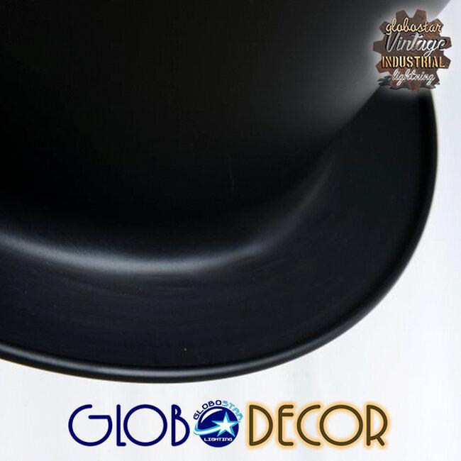 Vintage Κρεμαστό Φωτιστικό Οροφής Μονόφωτο Μαύρο Μεταλλικό Καμπάνα Φ26 GloboStar SHERLOCK 01215 - 12