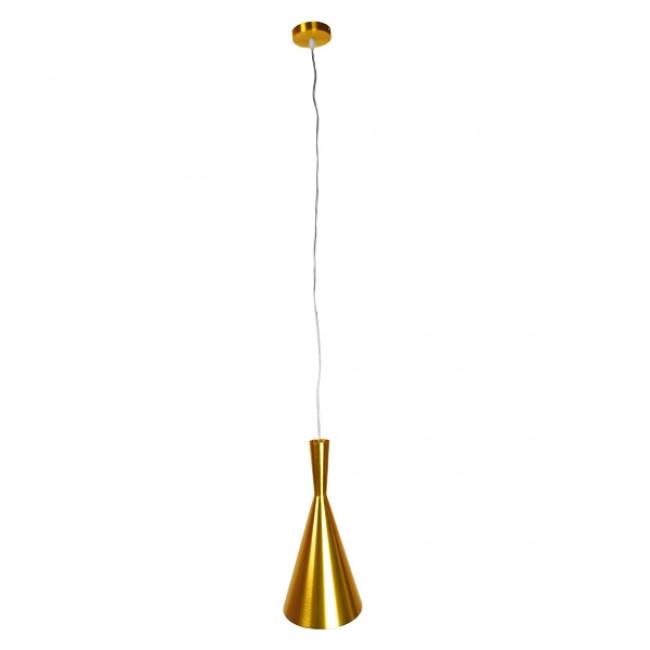 Μοντέρνο Κρεμαστό Φωτιστικό Οροφής Μονόφωτο Χρυσό Μεταλλικό Καμπάνα Φ18 GloboStar HUZHOU 01546 - 2