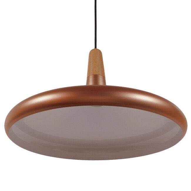 Μοντέρνο Κρεμαστό Φωτιστικό Οροφής Μονόφωτο Χάλκινο Μεταλλικό Καμπάνα Φ39  FERCLA 01223 - 4