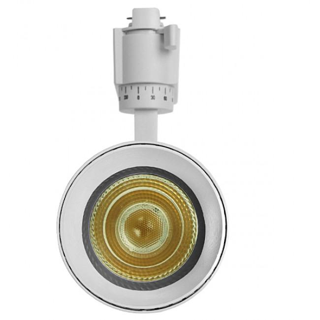 Μονοφασικό Bridgelux COB LED Λευκό Φωτιστικό Σποτ Ράγας 30W 230V 3750lm 30° Φυσικό Λευκό 4500k GloboStar 93109 - 3