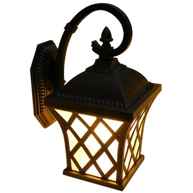 Vintage Φωτιστικό Τοίχου Απλίκα Μονόφωτο Μπρονζέ Μεταλλικό Πλέγμα GloboStar LELIA 01251 - 9