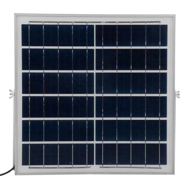 71559 Αυτόνομος Ηλιακός Προβολέας LED SMD 100W 12000lm με Ενσωματωμένη Μπαταρία 10000mAh - Φωτοβολταϊκό Πάνελ με Αισθητήρα Ημέρας-Νύχτας και Ασύρματο Χειριστήριο RF 2.4Ghz Αδιάβροχος IP66 Ψυχρό Λευκό 6000K - 8
