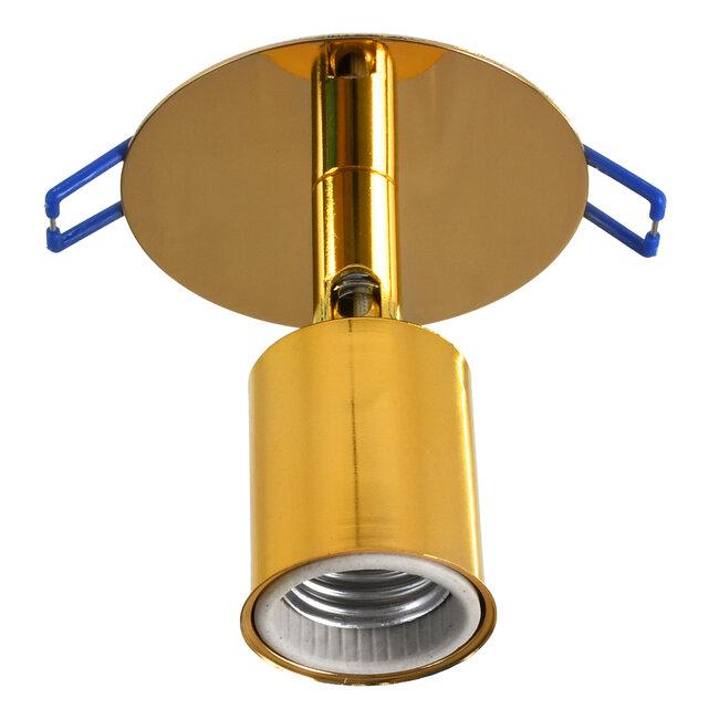 SARA 00851 Μοντέρνο Χωνευτό Φωτιστικό Οροφής / Τοίχου Μονόφωτο 1xE27 Μεταλλικό Χρυσό Φ8 x Υ8.5cm - 4