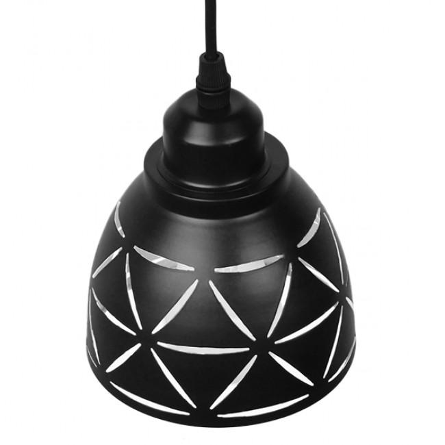 Μοντέρνο Κρεμαστό Φωτιστικό Οροφής Μονόφωτο Μεταλλικό Μαύρο Λευκό Καμπάνα Φ13 GloboStar COOLIE 01475 - 4