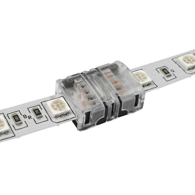 GloboStar® 70721 Ταχυσύνδεσμος Ένωσης IP20 - Strip To Strip Connector για Ένωση 2 x RGB Ταινίες LED Πλάτους 10mm - 4