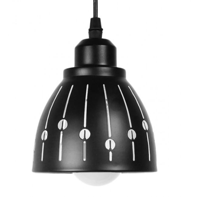 Μοντέρνο Κρεμαστό Φωτιστικό Οροφής Μονόφωτο Μεταλλικό Μαύρο Λευκό Καμπάνα Φ13 GloboStar HUNTON 01476 - 3