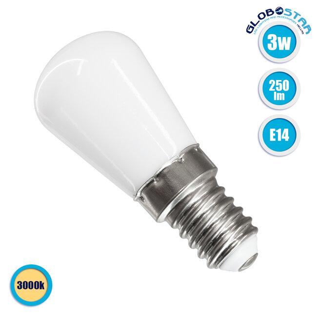 GloboStar® 76059 Λάμπα E14 S6 LED SMD 2835 3W 250lm 320° AC 230V Ψυγείου Θερμό Λευκό 3000K - 1