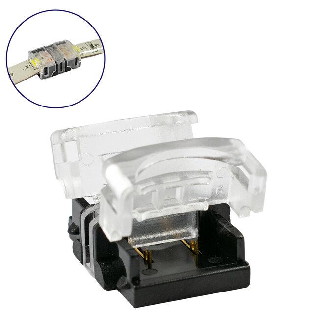 GloboStar® 70719 Αδιάβροχος Ταχυσύνδεσμος Ένωσης IP65 - Strip To Strip Connector για Ένωση 2 x Μονόχρωμες Αδιάβροχες Ταινίες LED Πλάτους 10mm - 2