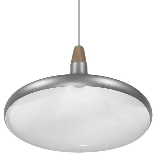 Μοντέρνο Κρεμαστό Φωτιστικό Οροφής Μονόφωτο Ασημί Μεταλλικό Καμπάνα Φ39  FELICITA 01276 - 4