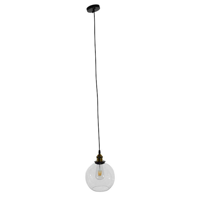 Vintage Κρεμαστό Φωτιστικό Οροφής Μονόφωτο Γυάλινο Καμπάνα Φ18  COLLINS 01170 - 2