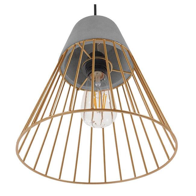 Μοντέρνο Industrial Κρεμαστό Φωτιστικό Οροφής Μονόφωτο Γκρι Μπεζ Τσιμέντο Πλέγμα Φ25  UTOPIAN 01323 - 7