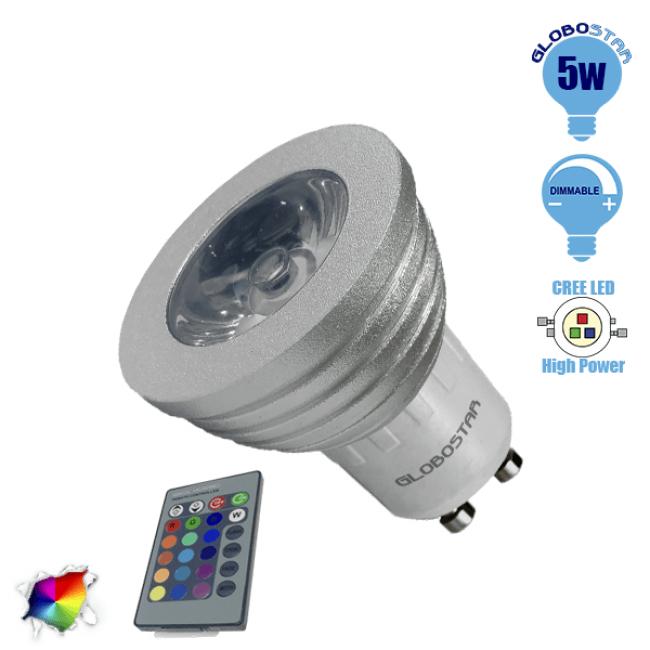 LED Σποτ με Βάση GU10 RGB