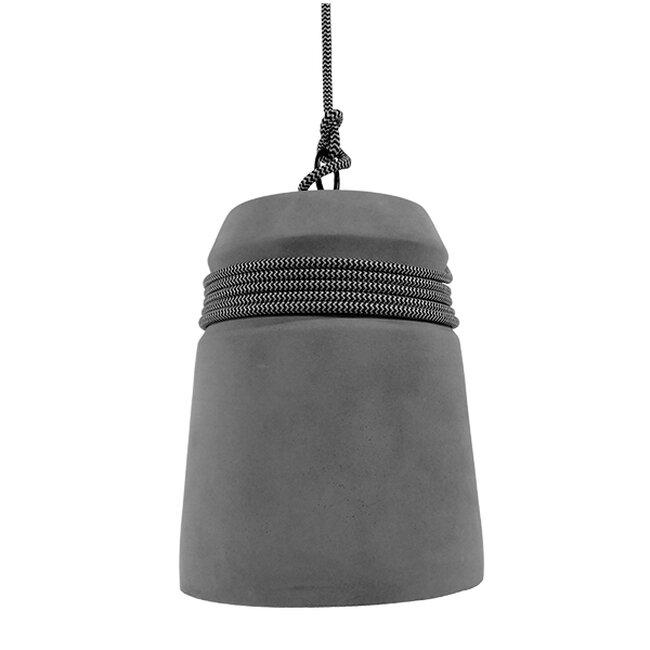Μοντέρνο Industrial Κρεμαστό Φωτιστικό Οροφής Μονόφωτο Γκρι Τσιμέντο Καμπάνα Φ18  FELINI 01321 - 5