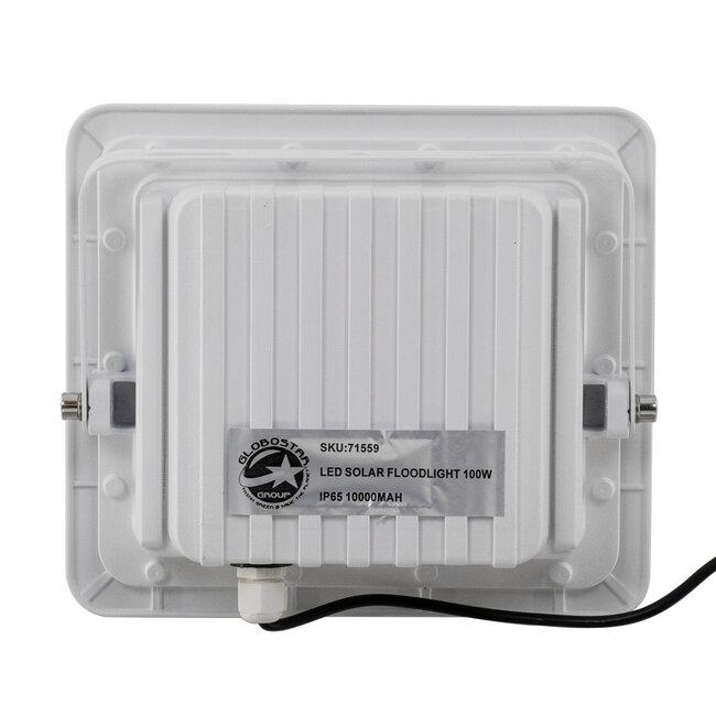 71559 Αυτόνομος Ηλιακός Προβολέας LED SMD 100W 12000lm με Ενσωματωμένη Μπαταρία 10000mAh - Φωτοβολταϊκό Πάνελ με Αισθητήρα Ημέρας-Νύχτας και Ασύρματο Χειριστήριο RF 2.4Ghz Αδιάβροχος IP66 Ψυχρό Λευκό 6000K - 6