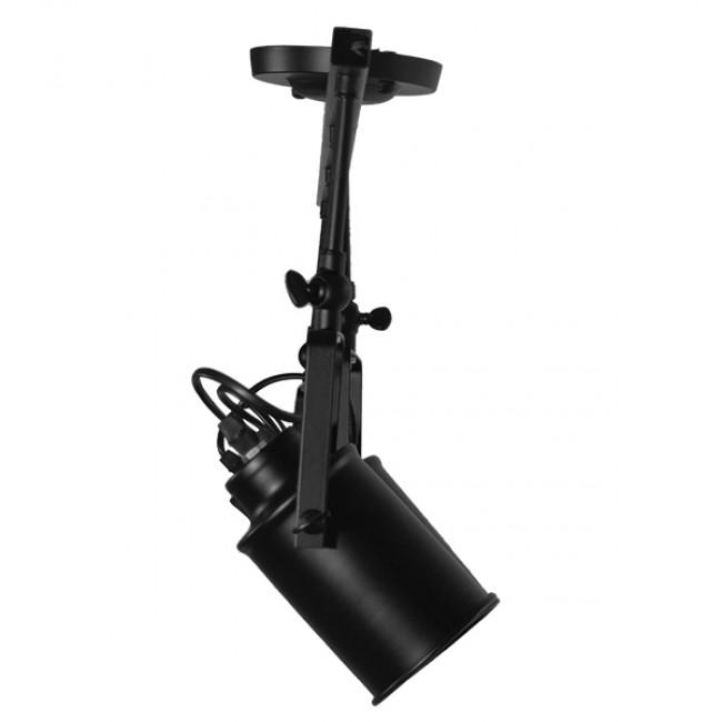 Vintage Φωτιστικό Οροφής Πολύφωτο Μαύρο Μεταλλικό Ράγα GloboStar HOLLYWOOD 01156 - 8