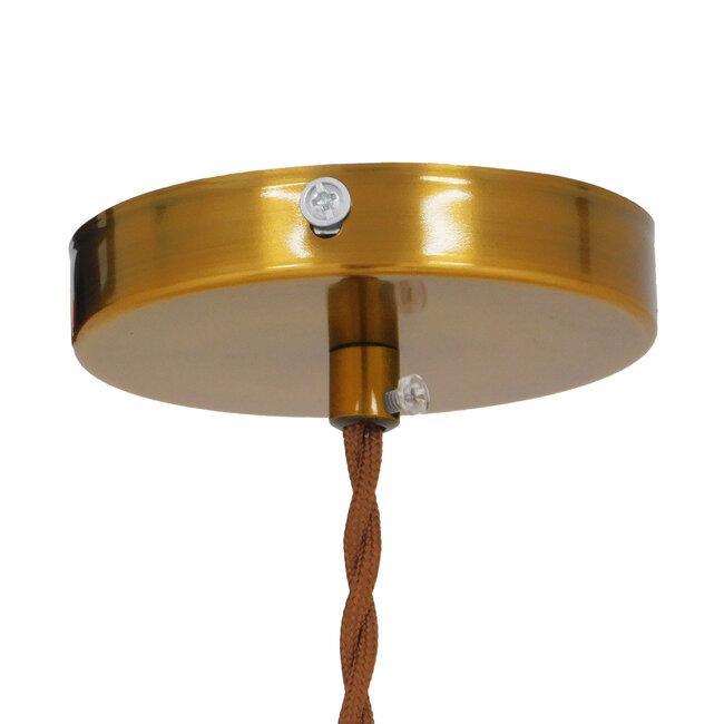 Μοντέρνο Industrial Κρεμαστό Φωτιστικό Οροφής Μονόφωτο Μεταλλικό Χρυσό Καμπάνα Φ11  MANHATTAN GOLD 01454 - 8