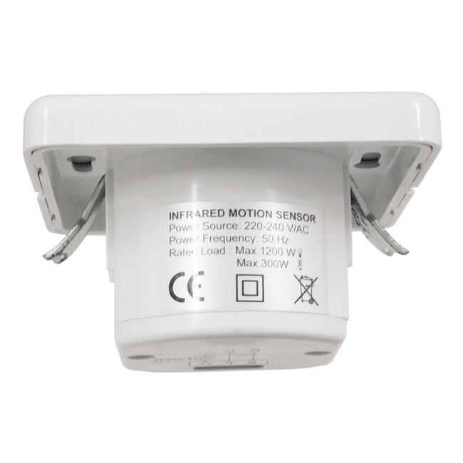 GloboStar® 75705 Χωνευτός Διακόπτης με Αισθητήρα Ημέρας-Νύχτας και PIR Αισθητήρα Κίνησης 160°- 9m Motion Sensor AC 230V Max 300W/1200W - 7
