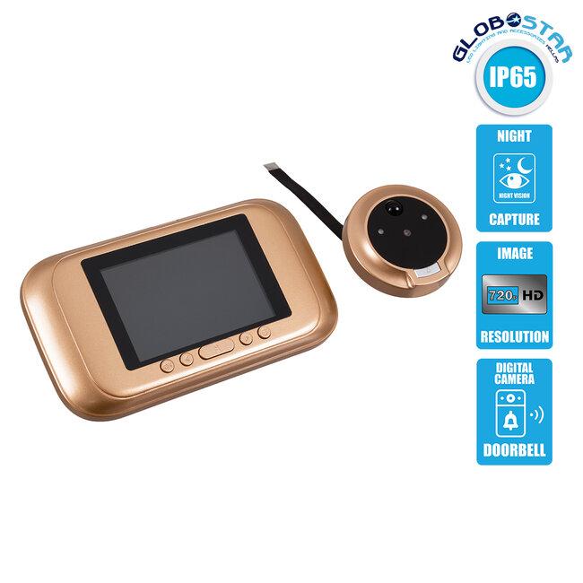 86070 Ψηφιακή Έξυπνη Camera Εξώπορτας 0,3 MP 90° Μοιρών με Έγχρωμη Οθόνη 2.8 - 1