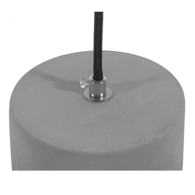 Μοντέρνο Industrial Κρεμαστό Φωτιστικό Οροφής Μονόφωτο Γκρι Μπεζ Τσιμέντο Πλέγμα Φ20 GloboStar DURANT 01325 - 8