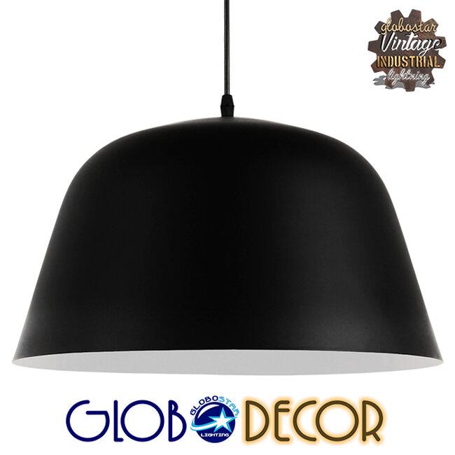 Μοντέρνο Κρεμαστό Φωτιστικό Οροφής Μονόφωτο Μαύρο Μεταλλικό Καμπάνα Φ40  EASTVALE 01281 - 1