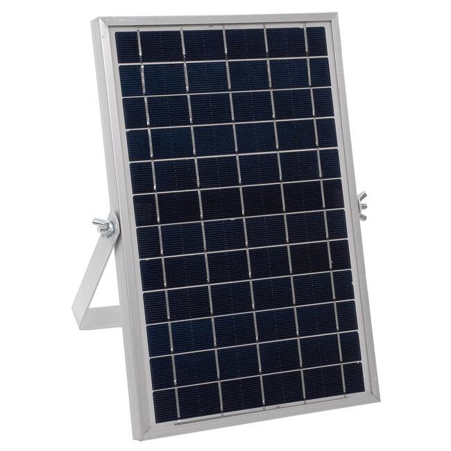 71554 Αυτόνομος Ηλιακός Προβολέας LED SMD 25W 2000lm με Ενσωματωμένη Μπαταρία 3000mAh - Φωτοβολταϊκό Πάνελ με Αισθητήρα Ημέρας-Νύχτας και Ασύρματο Χειριστήριο RF 2.4Ghz Αδιάβροχος IP66 Ψυχρό Λευκό 6000K - 7