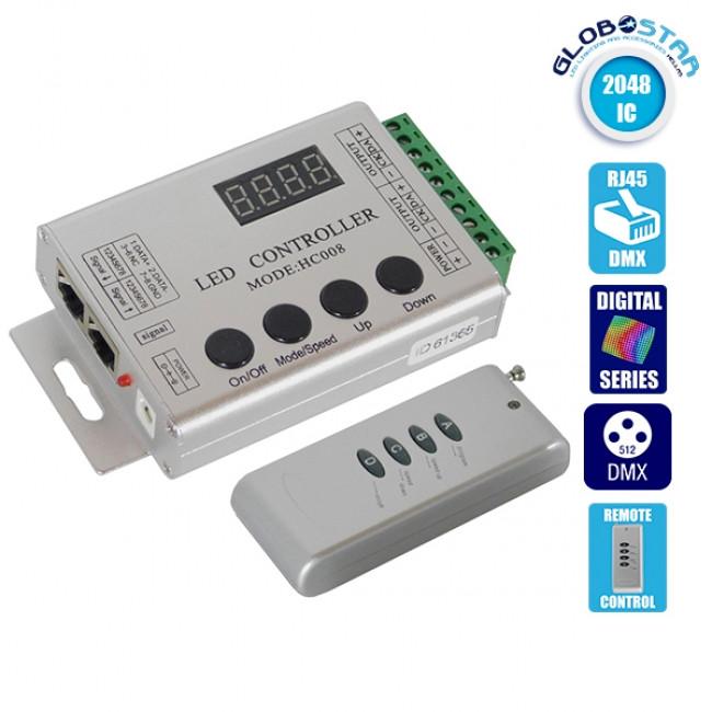 Ασύρματος LED Digital Controller HC03 2048 IC DMX512 GloboStar 88770
