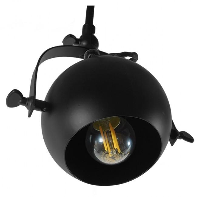 Μοντέρνο Φωτιστικό Οροφής Πολύφωτο Μαύρο Μεταλλικό Ράγα GloboStar CANNES 01082 - 6