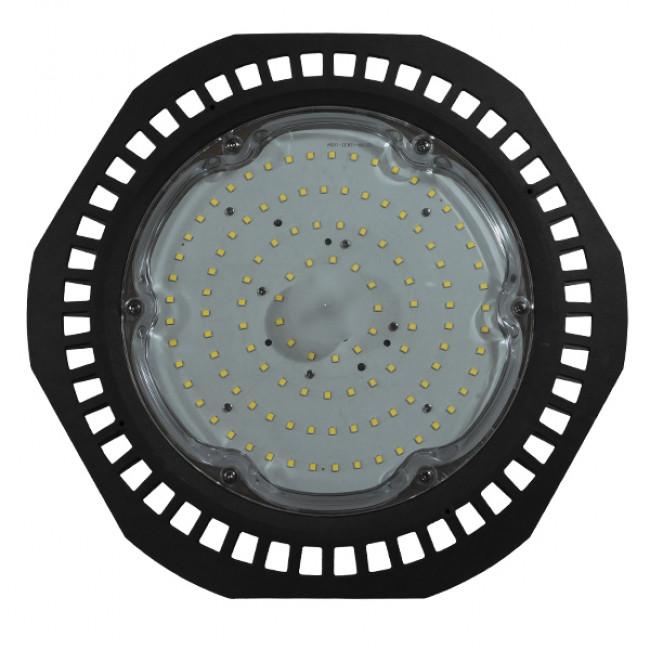 Επαγγελματική Καμπάνα UFO High Bay 100W 230V 14000lm 100° Αδιάβροχη IP66 Ψυχρό Λευκό 5000k GloboStar 78010 - 2