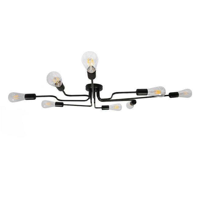 GloboStar® LIBERTA 00840 Μοντέρνο Φωτιστικό Οροφής Πολύφωτο Μαύρο Μεταλλικό Μ102 x Π72 x Υ10.5cm - 6
