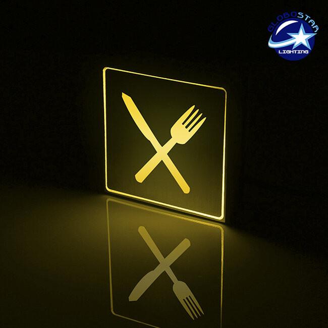Φωτιστικό LED Σήμανσης Αλουμινίου Εστιατόριο GloboStar 75508 - 2