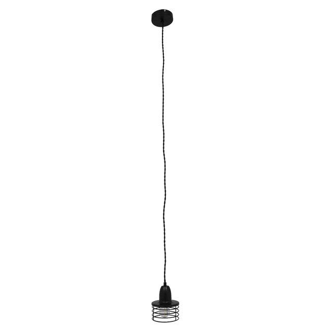 Μοντέρνο Industrial Κρεμαστό Φωτιστικό Οροφής Μονόφωτο Μεταλλικό Μαύρο Καμπάνα Φ11  MANHATTAN BLACK 01456 - 4