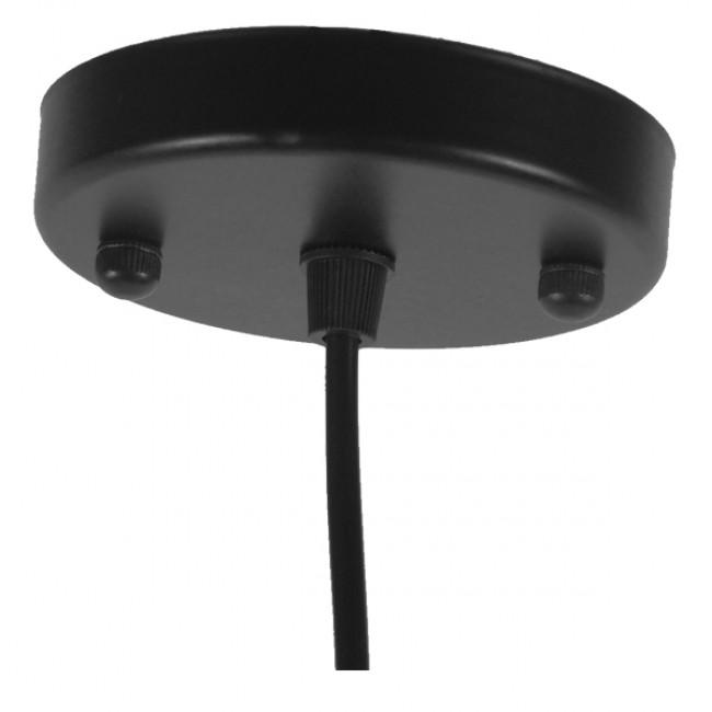 Vintage Industrial Κρεμαστό Φωτιστικό Οροφής Μονόφωτο Μαύρο Μεταλλικό Καμπάνα Φ36 GloboStar RAY BLACK 01049 - 7