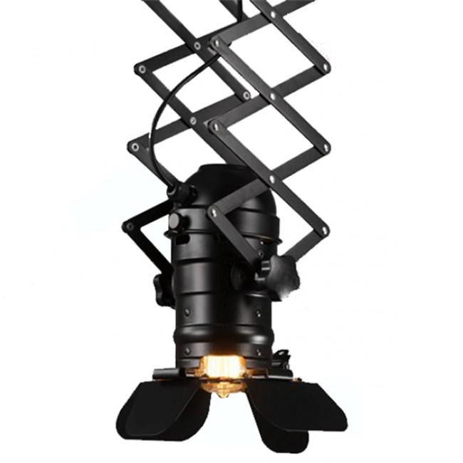 Vintage Industrial Φωτιστικό Οροφής Μονόφωτο Μαύρο Μεταλλικό GloboStar BROADWAY 01140 - 8
