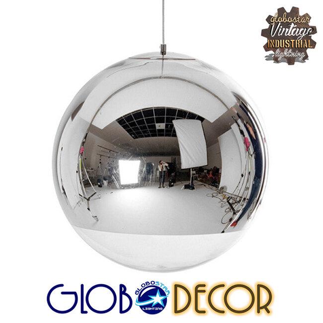 Μοντέρνο Κρεμαστό Φωτιστικό Οροφής Μονόφωτο Γυάλινο Νίκελ Φ30  GLANS 01312 - 1