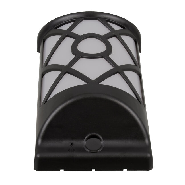 71457 Αυτόνομο Ηλιακό Φωτιστικό Τοίχου Μαύρο LED SMD 3W 220lm με Ενσωματωμένη Μπαταρία 300mAh - Εφέ Φλόγας Flame Effect - Φωτοβολταϊκό Πάνελ με Αισθητήρα Ημέρας-Νύχτας IP65 Θερμό Λευκό 2200K - 4