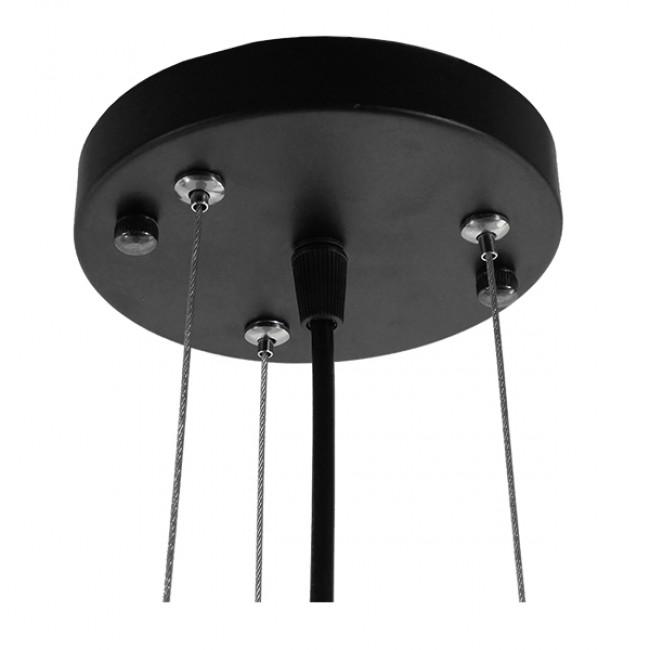 Vintage Κρεμαστό Φωτιστικό Οροφής Μονόφωτο Μαύρο Μεταλλικό με Μπεζ Σχοινί Φ47 GloboStar MELISSA 01158 - 8
