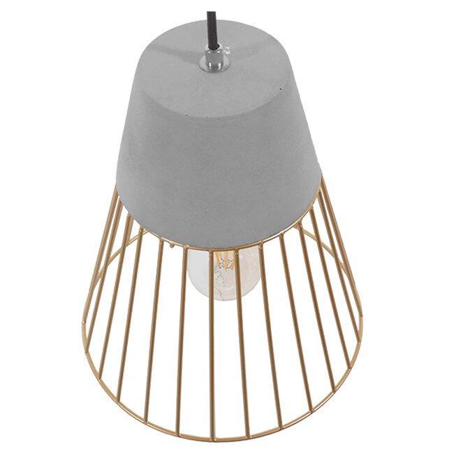 Μοντέρνο Industrial Κρεμαστό Φωτιστικό Οροφής Μονόφωτο Γκρι Μπεζ Τσιμέντο Πλέγμα Φ25  UTOPIAN 01323 - 5