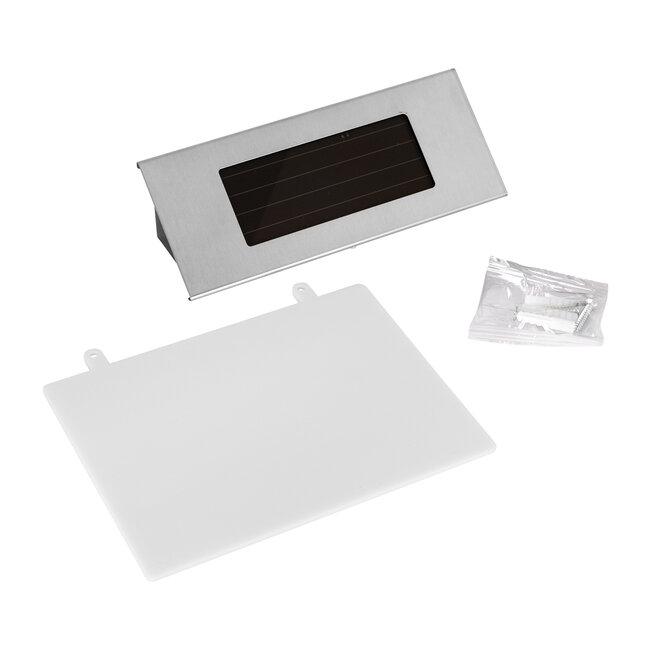 71485 Αυτόνομο Ηλιακό Φωτιστικό LED SMD 1W 100lm με Ενσωματωμένη Μπαταρία 600mAh - Φωτοβολταϊκό Πάνελ με Αισθητήρα Ημέρας-Νύχτας για Αρίθμηση Διεύθυνσης Δρόμου Αδιάβροχο IP65 Ψυχρό Λευκό 6000K - 11