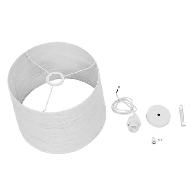 Μοντέρνο Industrial Κρεμαστό Φωτιστικό Οροφής Μονόφωτο Μεταλλικό Λευκό Καμπάνα Φ35  ACCADEMIA 01557 - 10