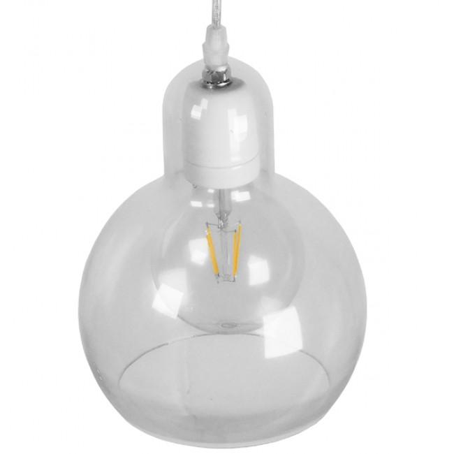 Μοντέρνο Κρεμαστό Φωτιστικό Οροφής Μονόφωτο Γυάλινο Διάφανο Φ18 GloboStar LUCREZIA 01314 - 4