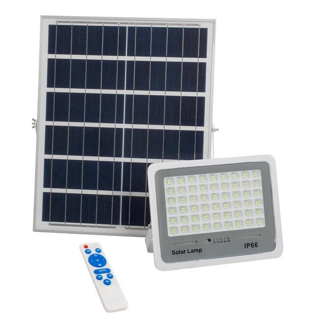 71560 Αυτόνομος Ηλιακός Προβολέας LED SMD 150W 18000lm με Ενσωματωμένη Μπαταρία 15000mAh - Φωτοβολταϊκό Πάνελ με Αισθητήρα Ημέρας-Νύχτας και Ασύρματο Χειριστήριο RF 2.4Ghz Αδιάβροχος IP66 Ψυχρό Λευκό 6000K - 2