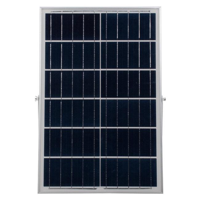 71557 Αυτόνομος Ηλιακός Προβολέας LED SMD 100W 8000lm με Ενσωματωμένη Μπαταρία 15000mAh - Φωτοβολταϊκό Πάνελ με Αισθητήρα Ημέρας-Νύχτας και Ασύρματο Χειριστήριο RF 2.4Ghz Αδιάβροχος IP66 Ψυχρό Λευκό 6000K - 8