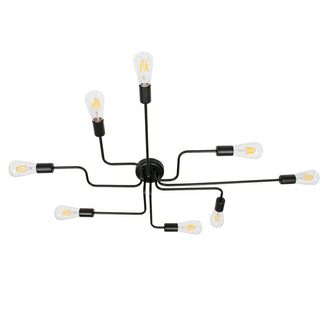 GloboStar® LIBERTA 00840 Μοντέρνο Φωτιστικό Οροφής Πολύφωτο Μαύρο Μεταλλικό Μ102 x Π72 x Υ10.5cm - 4