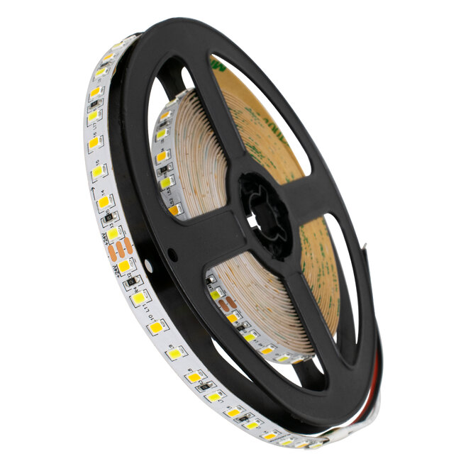 GloboStar® 70260 Ταινία LED SMD 2835 CCT 3in1 5m 12W/m 120LED/m 120° DC 24V IP20 1440lm/m Ψυχρό Λευκό 6000k & 1400lm/m Φυσικό Λευκό 4500k & 1360lm/m Θερμό Λευκό 3000k - 2