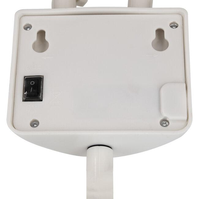 GloboStar® 71508 Αυτόνομο Ηλιακό Φωτιστικό LED SMD 10W 150lm με Ενσωματωμένη Μπαταρία 1200mAh - Φωτοβολταϊκό Πάνελ με Αισθητήρα Ημέρας-Νύχτας και PIR Αισθητήρα Κίνησης Αδιάβροχο IP54 Ψυχρό Λευκό 6000K - 12
